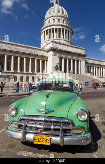 Vollverklebungen, Capitol, Havanna, Habana, Cuba Stockbild