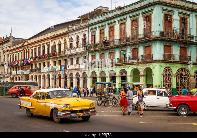 Kuba Havanna Habana Oldtimer, Kuba Stockbild