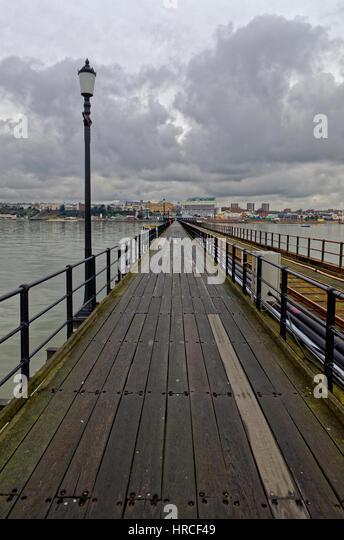 Southend Pier, der längsten Mole in der Welt, Southend-on-Sea, Essex, Großbritannien Stockbild