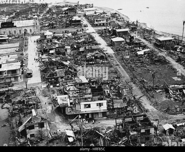 Taifun Joan Aftermath, Philippinen, 1970 Stockbild