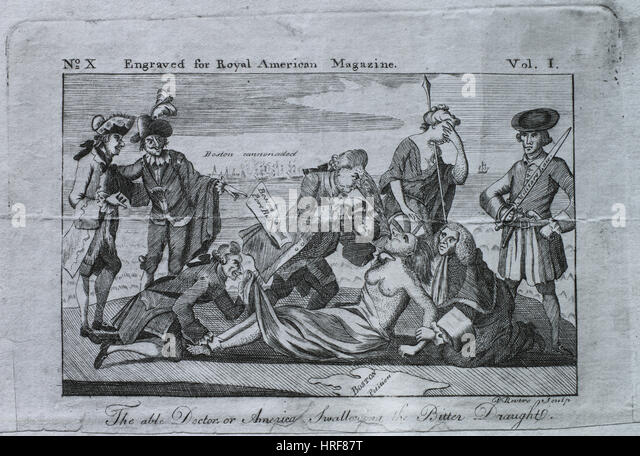 18. Jahrhundert politische Satire Stockbild