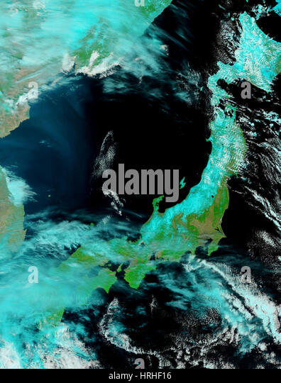 Nordosten Japans nach Tsunami Stockbild