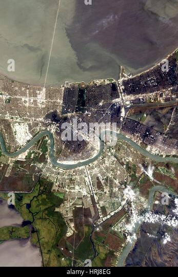 New Orleans nach dem Hurrikan Katrina Stockbild