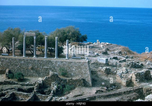 Antike Ruinen, Libanon Stockbild