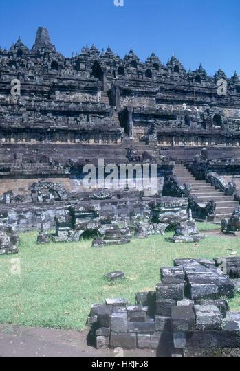 Alten Borobudar Tempels Stockbild