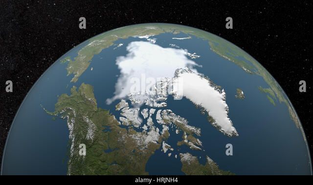 Minimum Polarfront, 2008 Stockbild