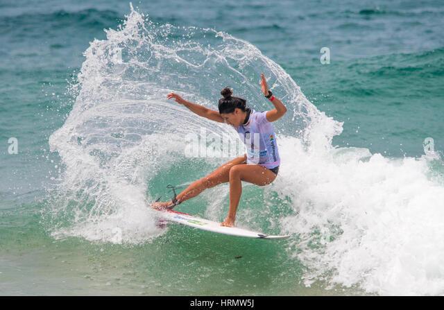 Sydney, Australien 3. März 2017: Australian Open von Surfen Sport-Event am Manly Beach, Australien mit Musik, Stockbild