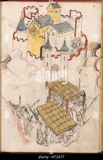 Bellifortis, nach 1440. Künstler: Kyeser, Konrad (1366-nach 1405) Stockbild