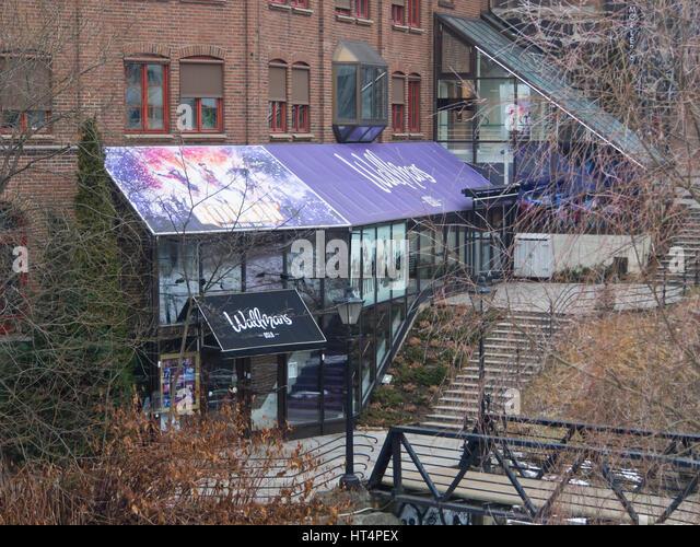 Merkel in Oslo Norwegen, feine Restaurants und Veranstaltungsorte für die öffentliche oder private Partys, Stockbild