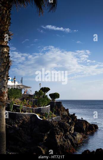 Spanien, Kanarische Inseln, Lanzarote, Puerto del Carmen Stockbild