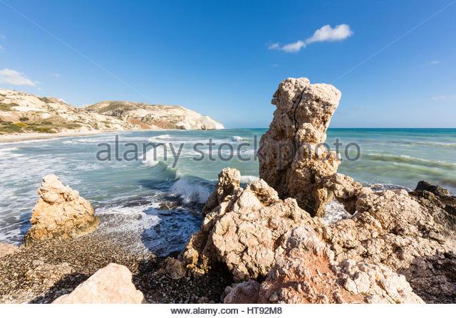 Petra Tou Romiou, Paphos, Zypern Stockbild