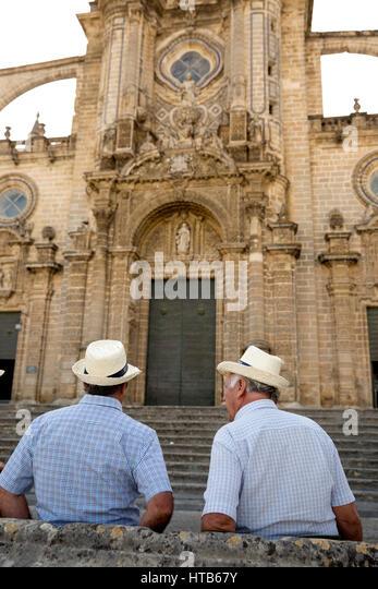 Kathedrale von San Salvador, Jerez De La Frontera, Cadiz Provinz, Andalusien, Spanien, Europa Stockbild