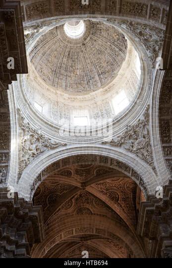 Kuppel der Kathedrale von San Salvador, Jerez De La Frontera, Cadiz Provinz, Andalusien, Spanien, Europa Stockbild