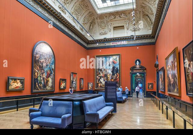 Saal mit Gemälden von Sir Peter Paul Rubens, Kunsthistorisches Museum, Wien, Österreich Stockbild