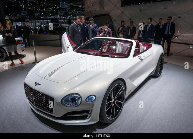 Bentley EXP 12 Speed 6e Konzept auf 87. Genfer internationalen Autosalon in Genf Schweiz 2017 Stockbild