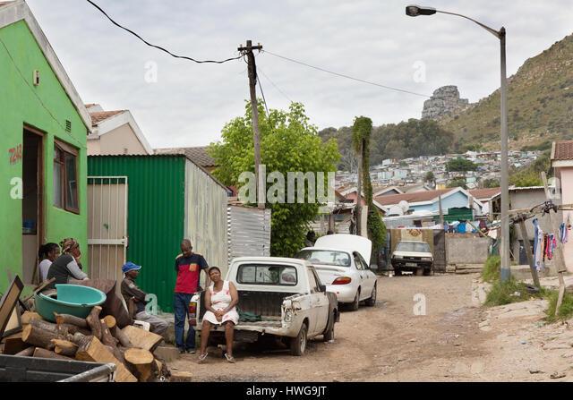 Südafrika Shanty Town oder Gemeinde; Township Imizamo Yethu, Cape Town, Südafrika Stockbild