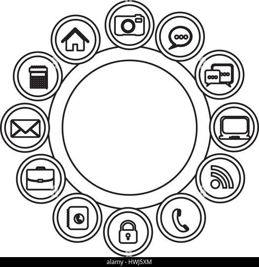 Technologie-apps-Verbindungen-Symbol Stockbild