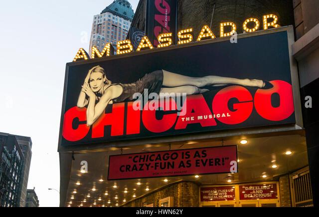 Chicago, die Tony gewinnen am längsten am Broadway musikalische ausgeführt Stockbild