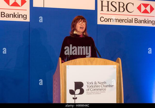 York, UK. 23. März 2017. Janet Straße-Porter CBE, Englisch Berühmtheit, Medien-Persönlichkeit, Stockbild
