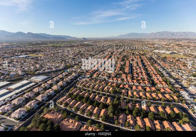 Luftaufnahme der Vorort sprawl in Las Vegas, Nevada. Stockbild