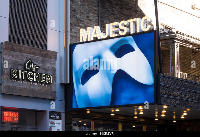 Das Phantom der Oper, die am längsten laufende musical am Broadway Stockbild