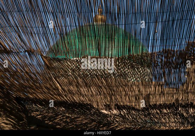 Eine Kuppel mit einem islamischen Motiv durch Reed Latten in Khiva, nördlichen Usbekistan gesehen Stockbild