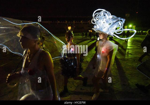 Buenos Aires, Argentinien. 31. März 2017. Modenschau beim Lollapalooza 2017 Festival. Bildnachweis: Anton Velikzhanin/Alamy Stockbild