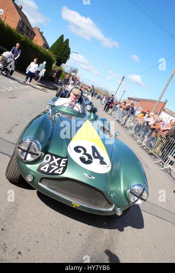 Bromyard Speed Festival, Herefordshire, UK - Sonntag, 2. April 2017 - Oldtimer und Oldtimer-show - ein Aston Martin Stockbild