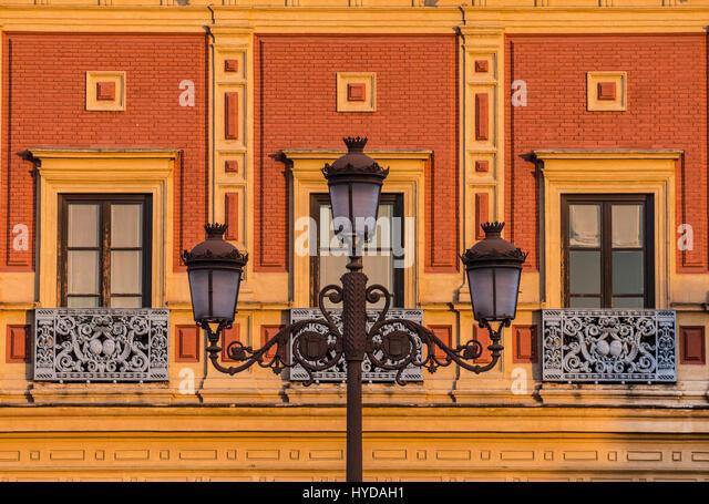 SPANIEN, ANDALUSIEN, SEVILLA, FASSADE DES PALACIO DE SAN TELMO Stockbild