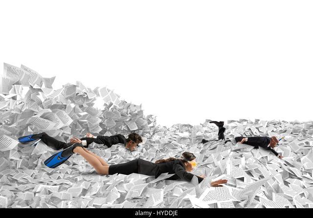 Schwimmen in der Bürokratie Stockbild