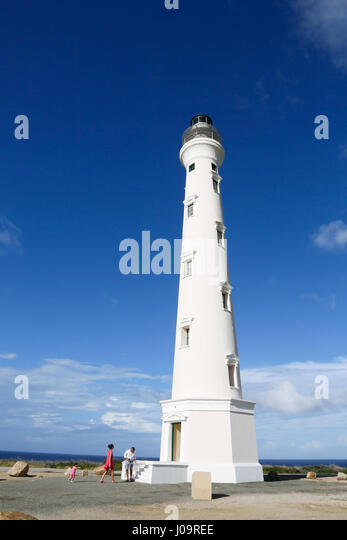 Aruba, California Leuchtturm und Umgebung, Calofornia de vuurtoren Stockbild