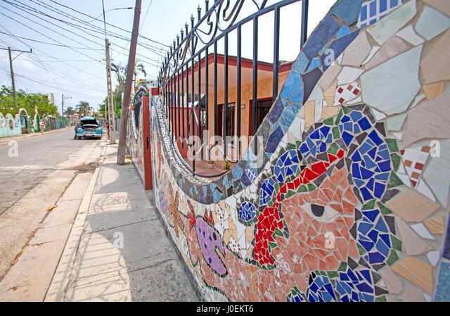 Fusterlandia Nachbarschaft, Havanna, Kuba Stockbild