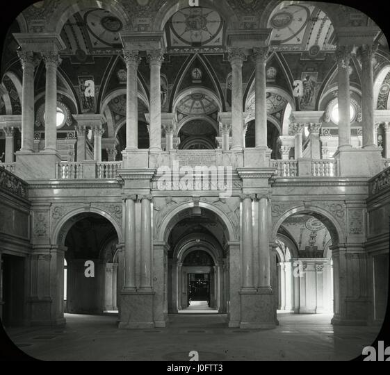 Marmorierte Lobby von der Library of Congress Stockbild