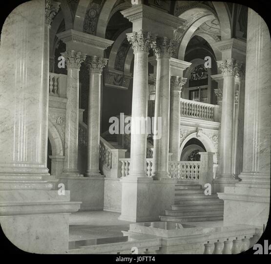 Ansicht der Treppe Library of Congress Stockbild