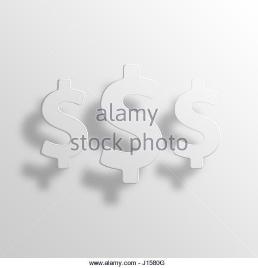 Geld 3D Paper Icon Symbol Business Konzept No.12393 Stockbild