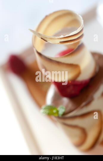 feine Speisen Eis dessert Stockbild