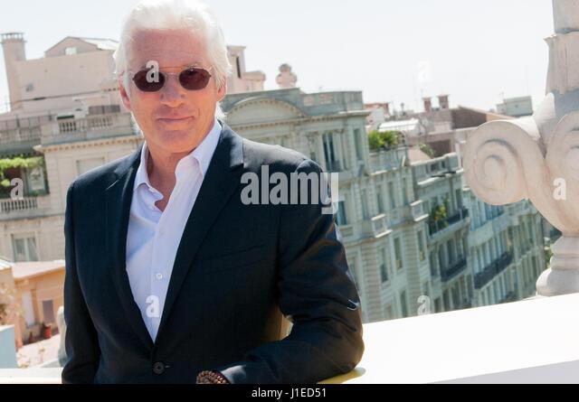 Der amerikanische Schauspieler Richard Gere und Filmregisseur Joseph Cedar öffnet das erste Filmfestival Barcelona Stockbild