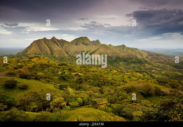 Abend im Cerros Los Picachos de Ola, Cocle Provinz, Republik von Panama. Stockbild