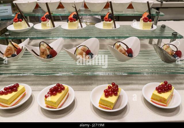 Dessert, Millenium Hilton Bangkok, Thailand Stockbild