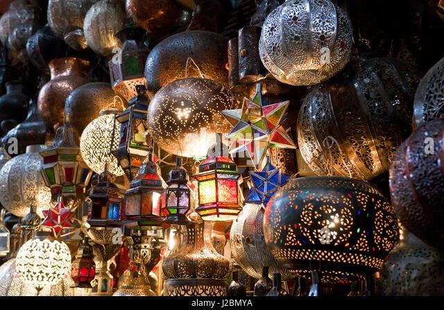 souk marrakech lantern stockfotos souk marrakech lantern. Black Bedroom Furniture Sets. Home Design Ideas