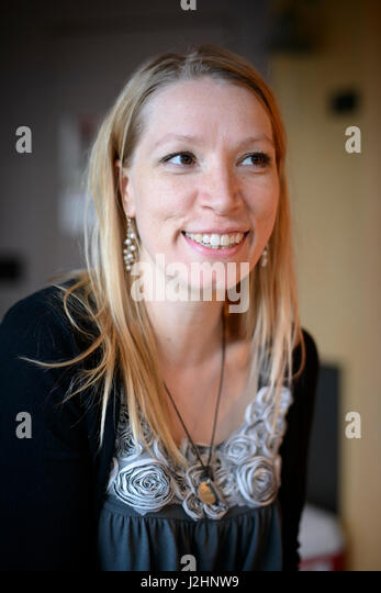 Porträt der Frau, 30er Jahre. (Großformatige Größen erhältlich) (MR) Stockbild