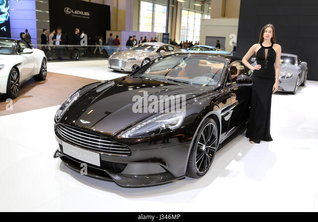 ISTANBUL, Türkei - 22. April 2017: Aston Martin Vanquish Sackler Autoshow Istanbul Stockbild