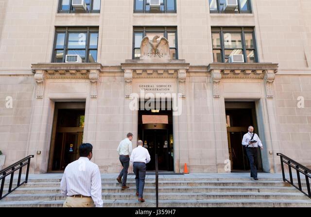 Allgemeine Dienstleistungen Verwaltungsgebäude - Washington, DC USA Stockbild