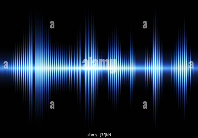 Equalizer Schallwelle Hintergrunddesign Stockbild