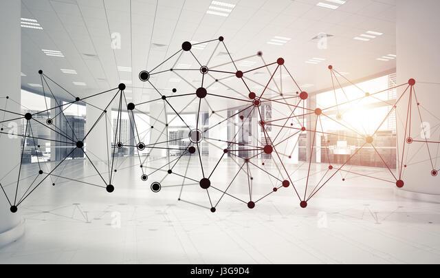 Netzwerke und drahtlose Verbindung als Konzept für die effektive Modus Stockbild