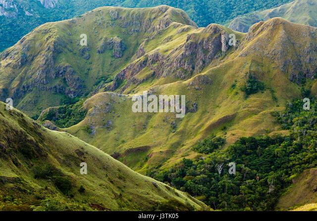 Bergformationen in Altos de Campana Nationalpark, Provinz Panama, pazifischen Abhang, Republik Panama Stockbild