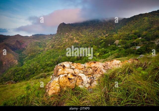 Frühen Morgenlicht in Altos de Campana Nationalpark, Provinz Panama, pazifischen Abhang, Republik Panama Stockbild