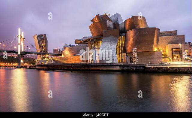 Guggenheim Museum Bilbao, Museum für moderne und zeitgenössische Kunst, Architekt Frank Gehry, Bilbao, Stockbild