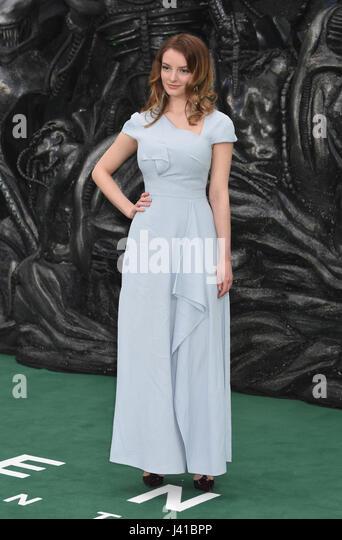 Dakota Blue Richards, Alien-: Bund, World Premiere, Odeon Leicester Square,London.UK 04.05.17 Stockbild