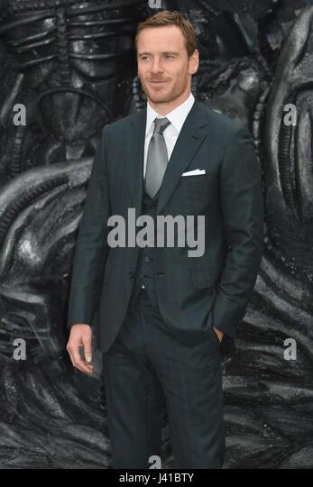 Michael Fassbender, Alien-: Bund, World Premiere, Odeon Leicester Square,London.UK 04.05.17 Stockbild